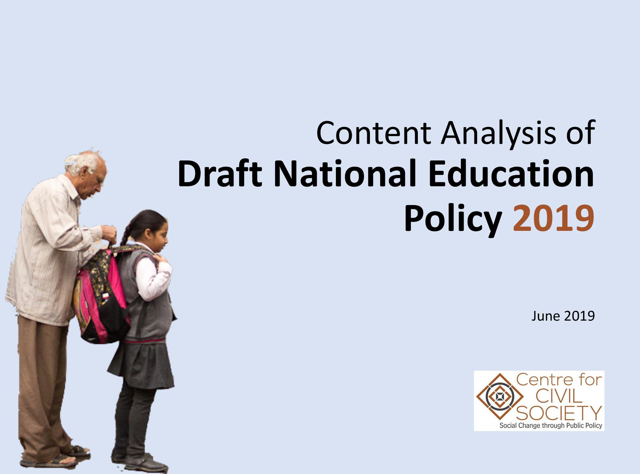 Content Analysis of the Draft National Education Policy