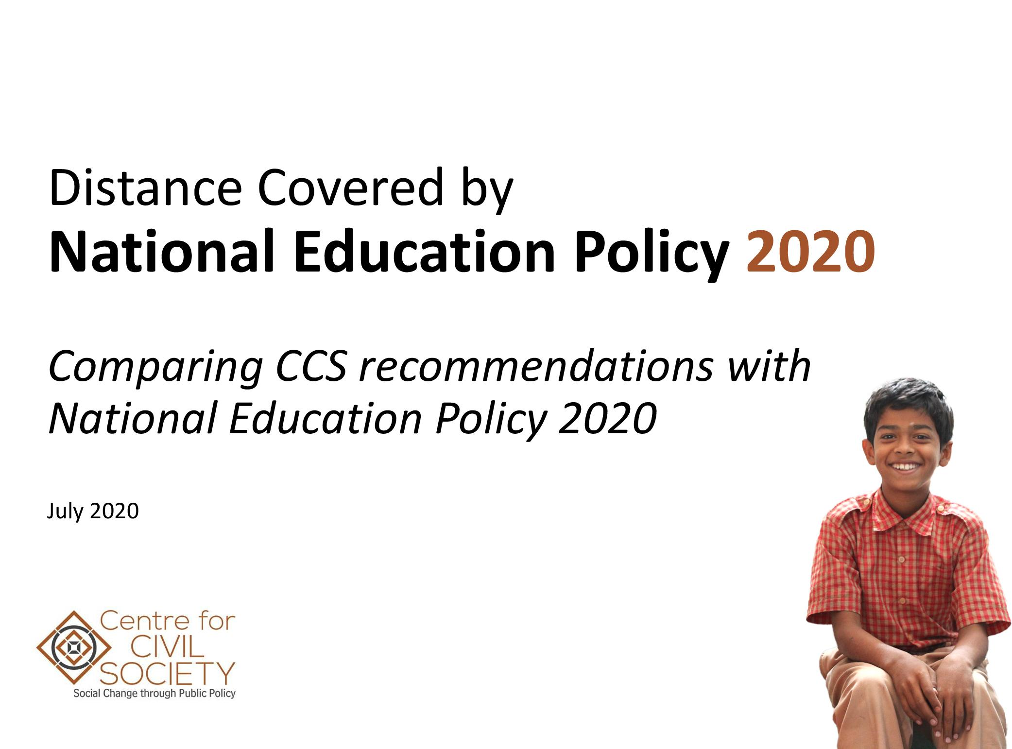 CCS K-12 Reform recommendations and NEP's Accomodations 2020