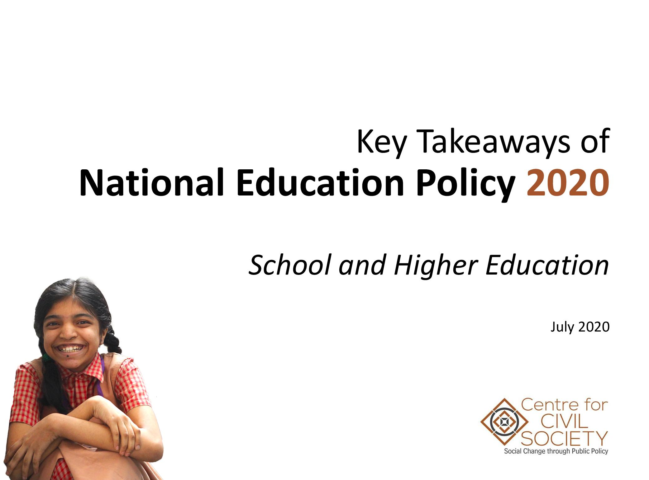 Key takeaways from National Education Policy 2020